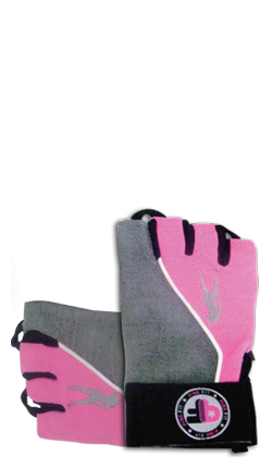 Pink Fit Gloves (gray-pink)